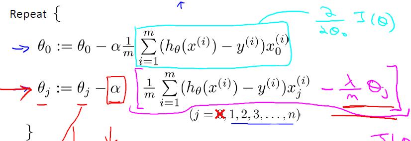 正则化线性回归梯度下降算法-我爱公开课-52opencourse.com