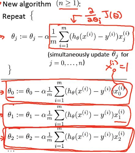 多变量线性回归梯度下降-我爱公开课-52opencourse.com