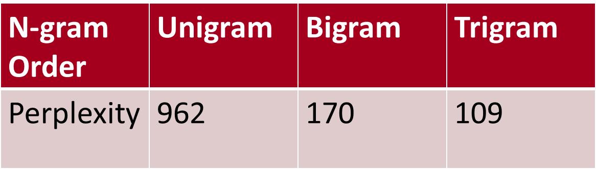 转]语言模型训练工具SRILM - WELEN - 博客园