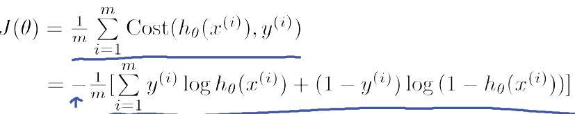 逻辑回归代价函数简化公式-我爱公开课-52opencourse.com